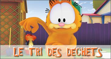 jeu Garfield Le tri des déchets