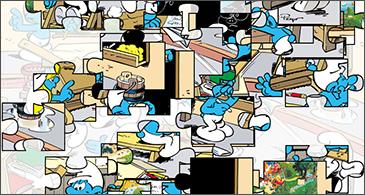 jeu Les Schtroumpfs Puzzle