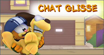 jeu Garfield Chat glisse