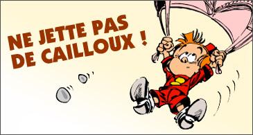 jeu Le Petit Spirou Ne jette pas de cailloux !