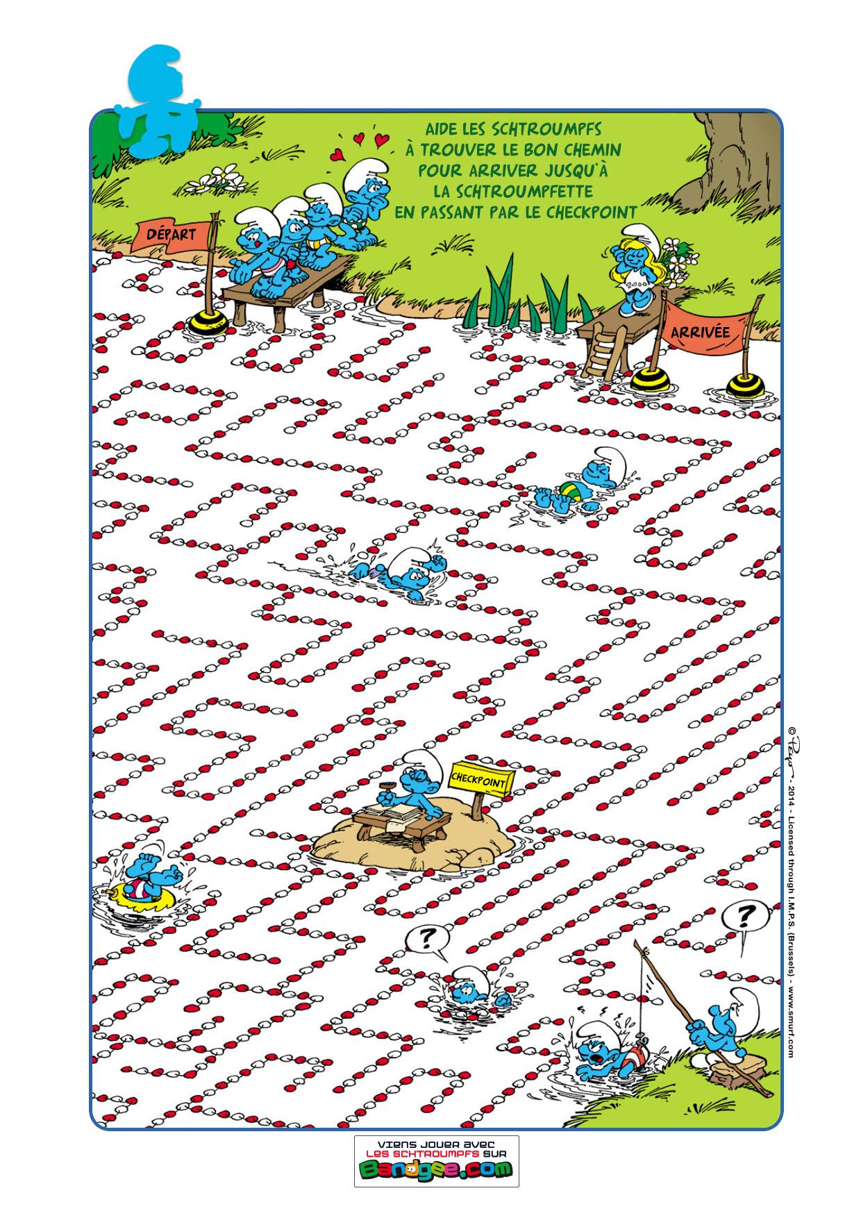 Jeux imprimer les schtroumpfs labyrinthe - Jeu labyrinthe a imprimer ...
