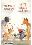 Marque-page M Blaireau et Mme Renarde