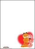 Papier à lettres Garfield