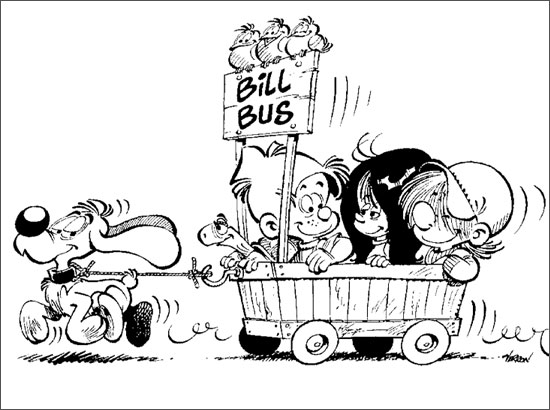 Coloriage Bill Bus