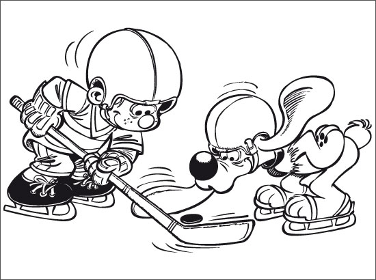 Dessin de hockey colorier les enfants - Dessin hockey ...
