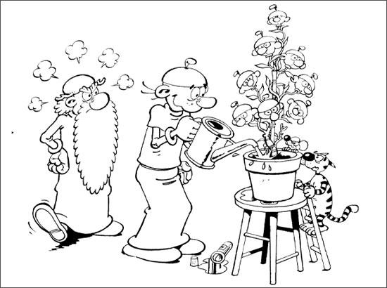 Coloriage Séance de jardinage