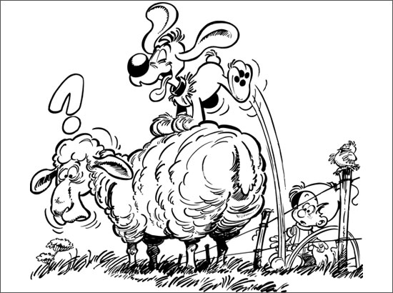 Coloriage Saute mouton