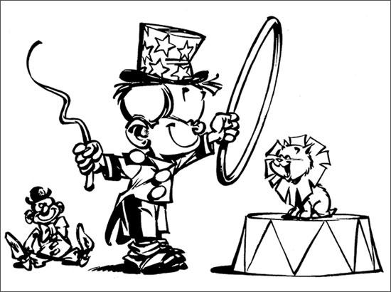 Coloriage Vive le cirque