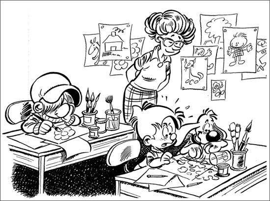 Coloriage en classe - Dessin classe ...