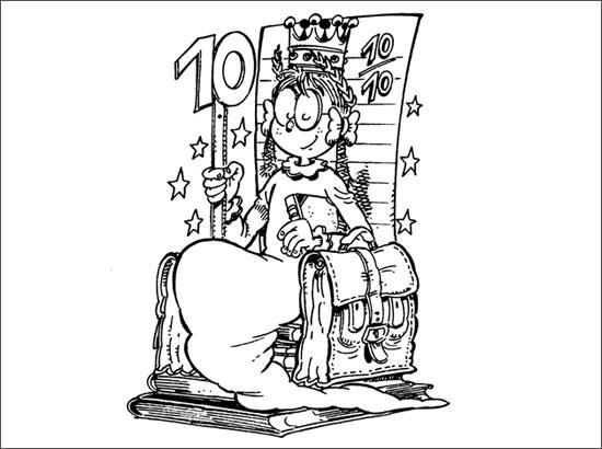 Coloriage La reine du 10/10