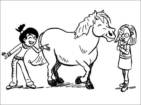 Coloriage Linotte, Pimpon et Anne-Sophie