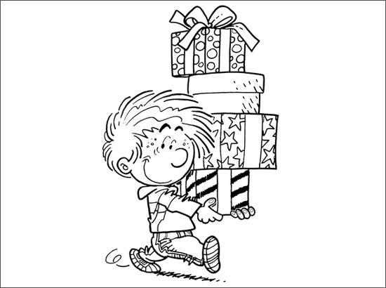 Coloriage Joyeuses fêtes