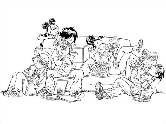 Coloriage Tamara et ses amis