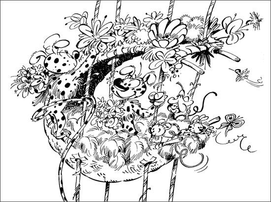 Coloriage Le nid des marsupilamis