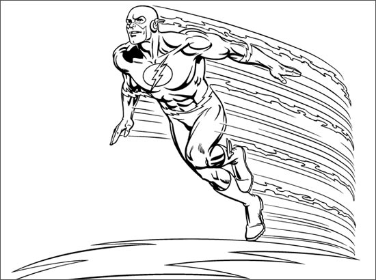 Coloriage flash - Coloriage dc comics ...