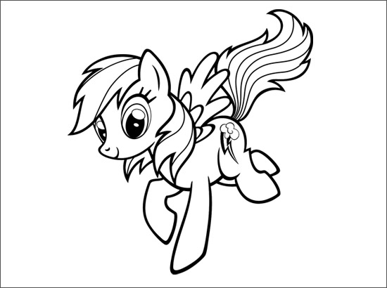 Coloriage rainbow dash - My little pony a colorier ...