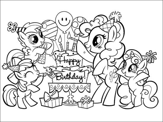 Coloriage Joyeux anniversaire