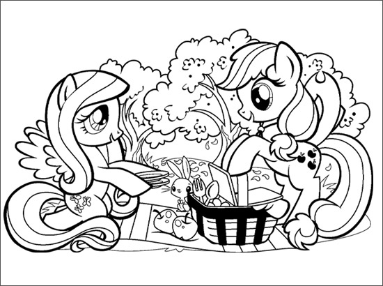 Coloriage pique nique - Coloriage de my little pony ...
