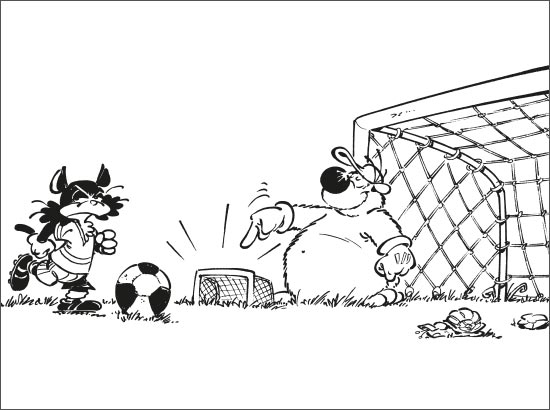 Coloriage Vive le foot