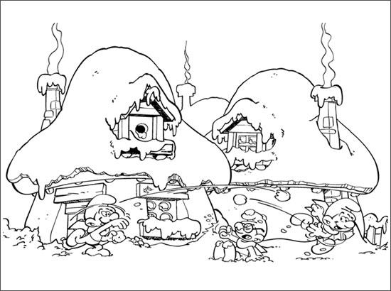 Les coloriages des schtroumpfs les schtroumpfs site officiel - Dessin de neige ...