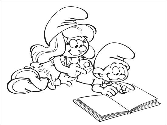 Coloriage Cours de lecture
