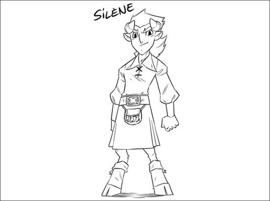 Coloriage Silène