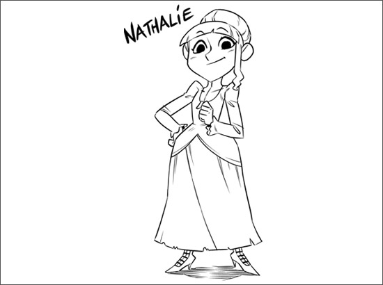 Coloriage Nathalie