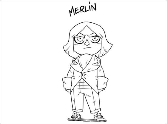 Coloriage Merlin