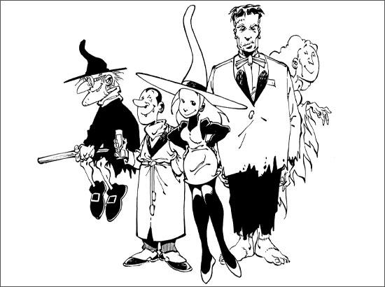Coloriage Mélusine et ses amis