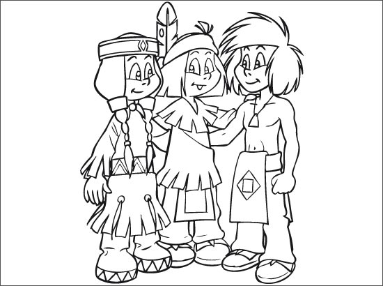 Coloriage Yakari et ses amis
