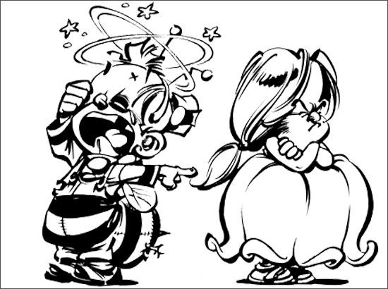 Coloriage Le Petit Spirou et Suzette