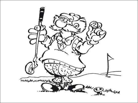 Coloriage Partie de golf