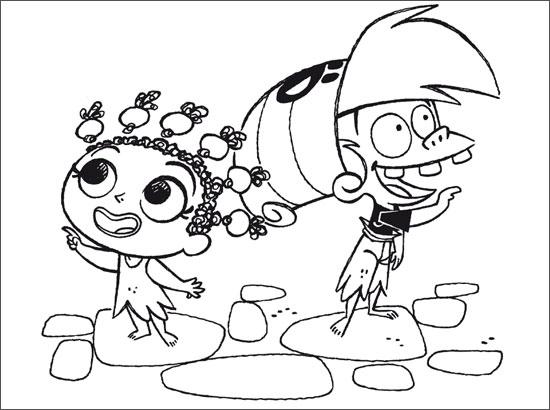 Coloriage Bigorneau et Oumy
