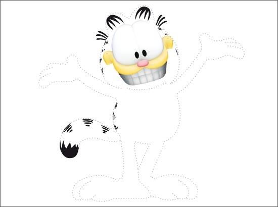 Coloriage Garfield