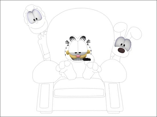 Coloriage Garfield, Jon et Odie